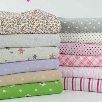 50*160cm knitted cotton fabric children printed floral fabric baby clothes making fabric DIY baby quilting jersey fabric
