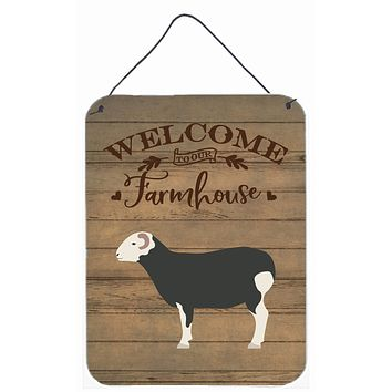 Herwick Sheep Welcome Wall or Door Hanging Prints CK6914DS1216