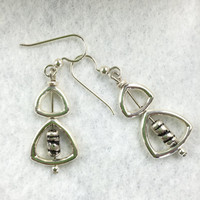 Dangle and Drop Sterling Silver Earrings,  Sterling Earrings, Everyday Earrings, Shiny Earrings, Fashion Earrings, Valentine Earrings