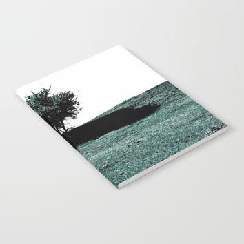 Tree On Hill Notebook by ARTbyJWP