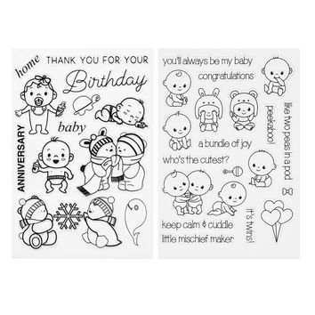 Multi-pattern Transparent Silicone Stamp Seal Cute Animal Clear Stamp for Scrapbooking DIY Photo Album Diary Book Decor Stamp