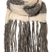 Mixed Panel Knit Scarf - Scarves  - Accessories