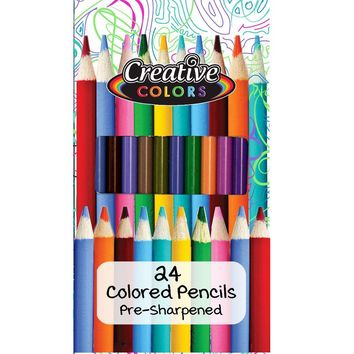 Pre-Sharpened Coloring Pencils - 24 Count - CASE OF 48