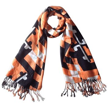 Maryland Flag Black & Orange / Scarf