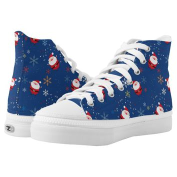 jolly blue Santa Claus High-Top Sneakers