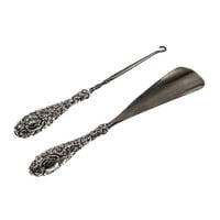 Victorian Sterling Handled Shoe Horn and Button Hook