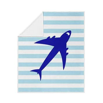 Jet Airplane Fleece Blanket