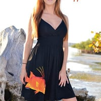 this hogfish little black fishing spearfishing dress is so cute and yet sexy for any fisher women hog snapper hogfish clothing spearfishing