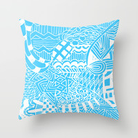 Doodle Pattern Series 2 Throw Pillow by Idle Amusement