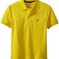 Nautica Big Boys' Solid Pique Polo, Dayglow, Medium