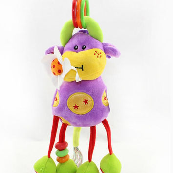 Cute Curtly - Soft and Cuddly Plush Baby Rattle