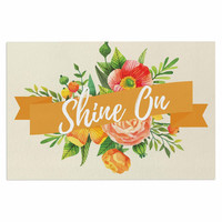 "KESS Original ""Shine On"" Beige Orange Decorative Door Mat"