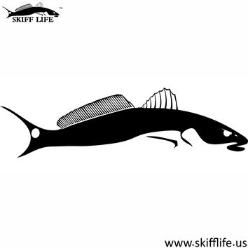 Skiff Life Redfish Decal Tailchaser WHZZ