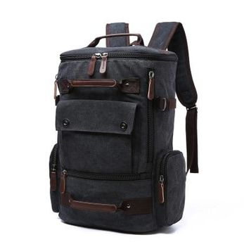 Men's Rucksack Style Laptop Backpack