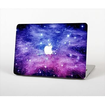 The Purple and Blue Scattered Stars Skin Set for the Apple MacBook Pro 13""