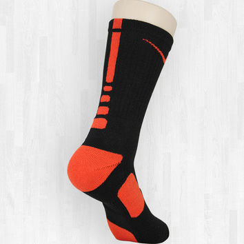 Black/Orange Nike Elite Socks | Rock 'Em Apparel