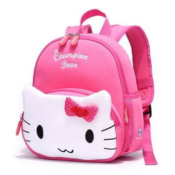 Toddler Backpack class Aged1-4 Anti-lost Small Toddler Bags Children School Bags for Girls Hello Kitty Cartoon Baby Backpack Kids Bag mochila escolar AT_50_3