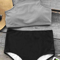 Cupshe Enjoy Summer Time Tank Bikini Set