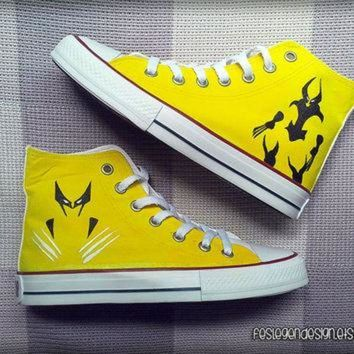 VONR3I The Wolverine Custom Converse / Painted Shoes