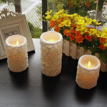 1pc flameless wax LED Candles with remote control