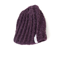 ♢ The Maroon Weaved Hat ♢ - handmade beanie - Joy of Motion