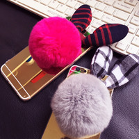On Sale Iphone 6/6s 7/7pHot Deal Cute Stylish Plaid Butterfly Iphone Silicone Mirror Phone Case [9078301188]