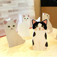 Cute Cat Three-Dimensional Greeting Folding Cards Birthday Christmas Thanksgiving Day Blessing Festival Gift,Envelopes,10pcs/lot