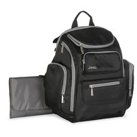Jeep Diaper Backpack - Charcoal & Black