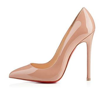 Christian Louboutin Pigalle 120mm Nude Patent Leather