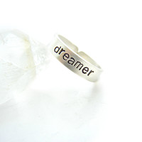 Positive Mantra Sterling Silver Ring