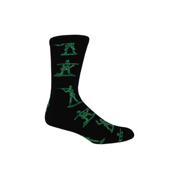 Army Men Crew Socks in Black