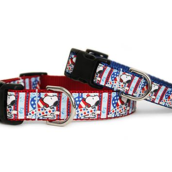 Fourth of July Snoopy Dog Collar