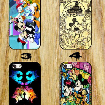 mickey  Disney Collage Art iPhone 4/4S/5/5S/5C/6 Samsung Galaxy S3/S4/S5 custom case