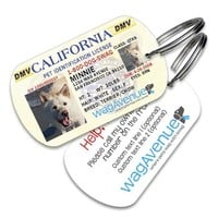 California Driver's License Pet Tag