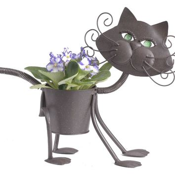 "Georgetown Mini Metal 4""Planter-Mini Glamour Cat"