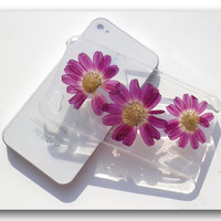 Handmade iPhone 4/4s case Resin with Real flower by Annysworkshop
