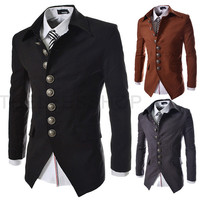 Multi-Button Slim Fit Cut Men's Fashion Blazer Jacket