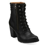 Clarks shoes - Products - Womens - Casual Boots - Mission Aston — Black Leather