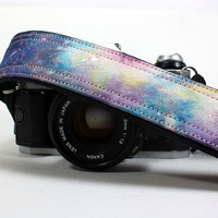 Galaxy Camera Strap, No. 38, Hand painted, dSLR or SLR, Cosmos, Nebula, OOAK