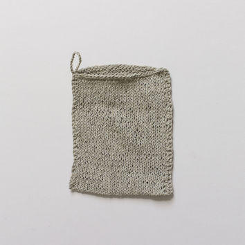 Fog Linen Knitted Wash Cloth