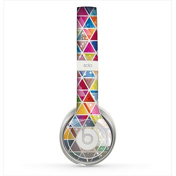 The Colorful Abstract Stacked Triangles Skin for the Beats by Dre Solo 2 Headphones