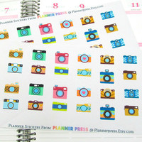 Camera Planner Sticker for Erin Condren Life Planner (ECLP) Reminder Sticker