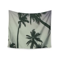 """Mary Carol Fitzgerald """"Rise Of Palms"""" Purple Photography Wall Tapestry"""