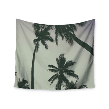"Mary Carol Fitzgerald ""Rise Of Palms"" Purple Photography Wall Tapestry"