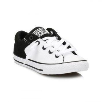 DCCK1IN converse junior white black high street trainers