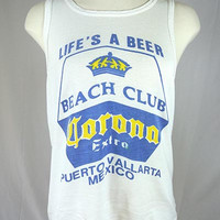 "Vintage Corona ""Life's A Beer"" Tank Top M/L"
