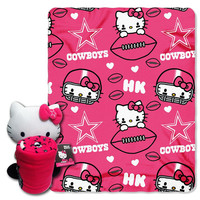 Dallas Cowboys NFL Hello Kitty with Throw Combo