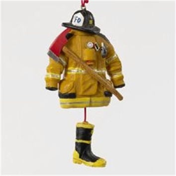Christmas Ornament - Fireman Hat, Ax, Coat And Boots