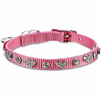 Bond & Co. Pink Heart Bling Collar | Petco