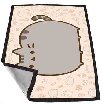Pusheen Cat for Kids Blanket, Fleece Blanket Cute and Awesome Blanket for your bedding, Blanket fleece *02*